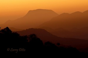 A passing cold front stirred up enough dust to produce a dramatic sunrise on my last day in the mountains.