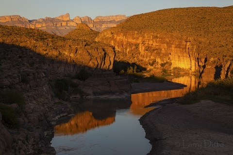 Rio Grande near Boquillas Canyon in Big Bend National Park, Texas