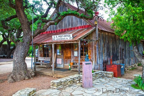 Luckenbach Store jazzed up with a little HDR toning.  I like it!