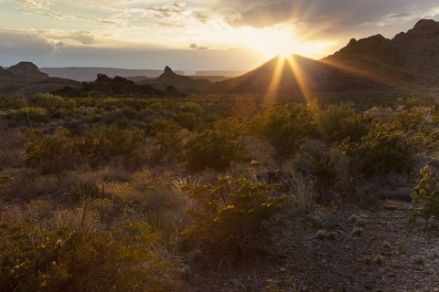 "One of the big favorites on every Big Bend photo trip is trying to capture a ""starburst"" at sunrise or sunset."