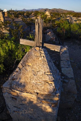 Grave marker in the Terlingua Cemetery