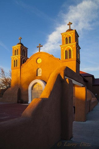 400 year old church in Socorro, New Mexico.