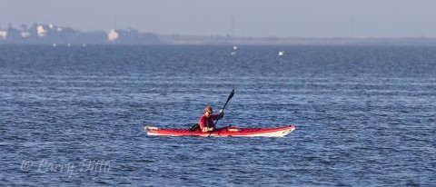 A beautiful morning to kayak the shallow Laguna Madre.