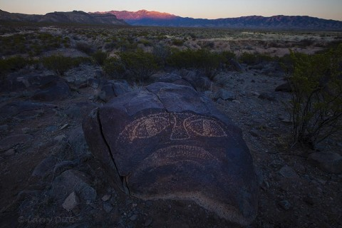 Petroglyph from the Three Rivers site in central New Mexico.