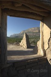 adobe ruins near the Rio Grande at Big Bend National Park, Texas, July