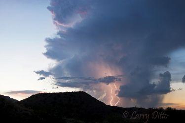Lightning in Big Bend National Park, Texas, July
