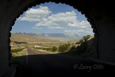 Tunnel near Boquillas canyon in Big Bend National Park, Texas, July
