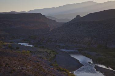 Rio Grande at sunrise, Big Bend National Park, Texas