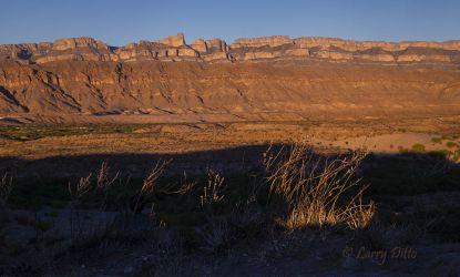 Boquillas rim at sunset, Big Bend National Park