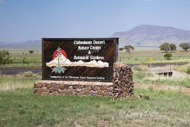 entrance sign at Chihuahuan Desert Nature Center, Fort Davis, Texas