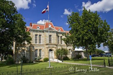 Concho County Courthouse in Paint Rock, Texas, September