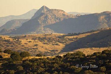 Davis Mountains at sunset; west Texas