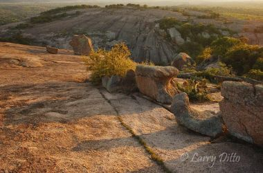 Enchanted Rock Natural Area near Fredericksburg, Texas at sunset