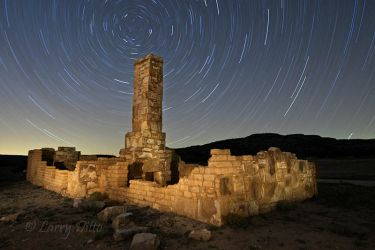 Fort Lancaster, Texas and star trails