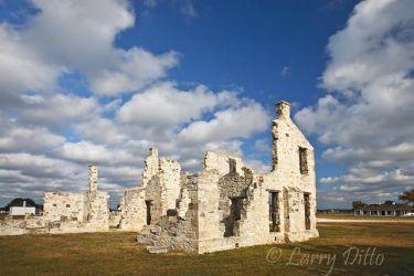 Commander's Quarters at historic Fort McKavett, west of Menard, Texas