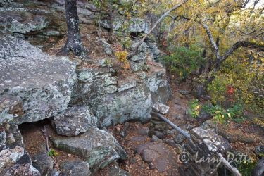 Hiking trail at Lake Mineral Wells State Park