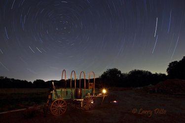Night fall at the chuck wagon