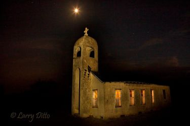 Old church near San Isidro, Texas