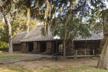 Shelter at Palmetto State Park near Gonzales, Texas