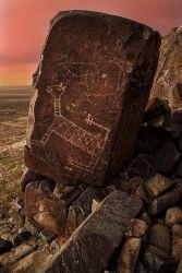 Petroglyph at Three Rivers Site, BLM, NM