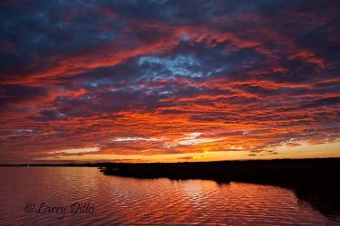 Rockport, Texas sunset in January