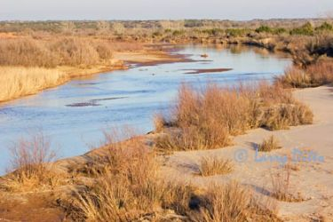 Peace River near Quanah, Texas, a tributary of the Red River, NW Texas, January