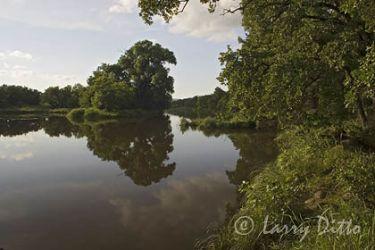 Lake in afternoon, Wichita Mountains National Wildlife Refuge, Oklahoma, June